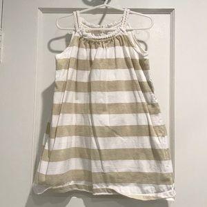 Gap Gold striped tank dress